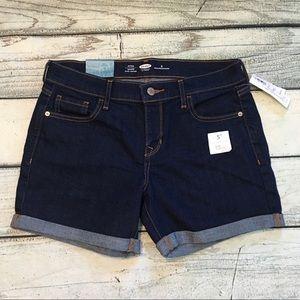 NWT Old Navy mid rise denim shorts 6